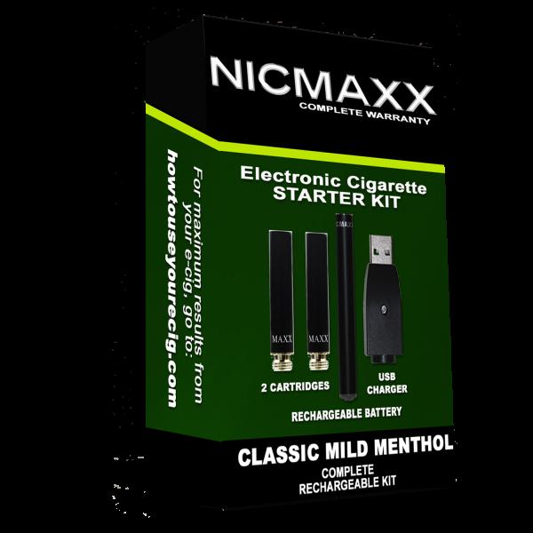 Classic Mild Menthol Starter Kit Nicmaxx
